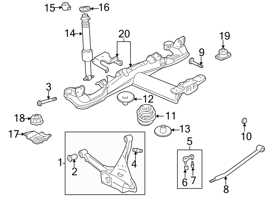 Buick Park Avenue Suspension Subframe Crossmember  Rear   Park Avenue