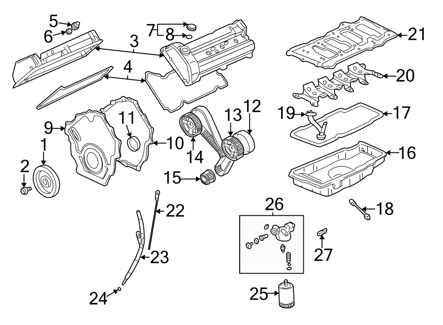 cadillac deville engine intake manifold  engine component that directs air to the engine