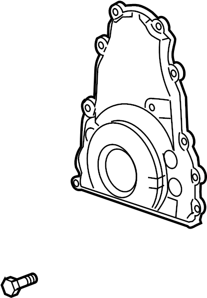 gmc sierra 1500 engine timing cover  front